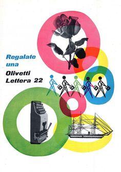Giovanni Pintori, Olivetti lettera #whiteandprimary #repetition #transparency