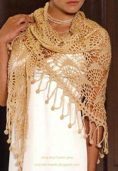 Lace Crochet Shawl and Free pattern