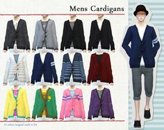 S:imadako tumblr-[Mens Cardigans] DOWNLOAD/MediaFire re-color and...