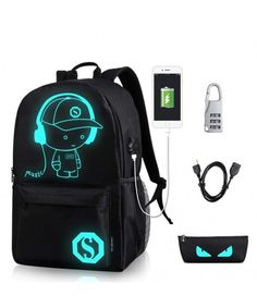 Shop a great selection of GAOAG Anime Luminous Backpack Daypack Shoulder Under USB Charging Port Lock School Bag Black. Find new offer and Similar products for GAOAG Anime Luminous Backpack Daypack Shoulder Under USB Charging Port Lock School Bag Black. College Book Bag, College Bags, College School, Smart School, School Bags For Boys, Shoulder Bags For School, Boys Backpacks, School Backpacks, Canvas Backpacks