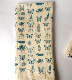 Butterfly Floral Print Kitchen Towels, Set of 2 by The High Fiber on Scoutmob Shoppe