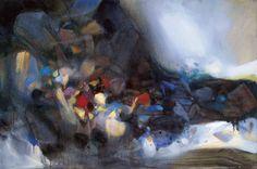 Chu Teh-chun Irruption de l'inconnu 2004 Oil on canvas 130 x 195 cm Est…