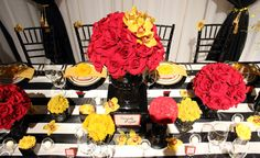 Red and Yellow Wedding Ideas