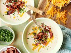 Crock Pot - Style Loaded Baked Potato Soup Recipe - Genius Kitchensparklesparkle