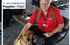 A blind man and his service dog were kicked off of a US Airways flight from Philadelphia International Airport to Long Island Wednesday night. The airline says the man wouldn't follow instructions to secure his dog, which sparked outrage from the passengers on board.