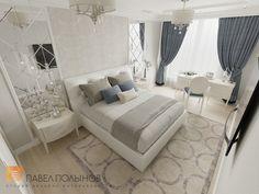 Фото: Дизайн спальни - Интерьер квартиры в классическом стиле в ЖК «Времена года», 61 кв.м.