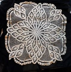 Crochet Doily-  Old Decorative Doily- Handmade Parlor- Buffet-Table Doily-Small Table Cover Doily by OrphanedTreasure on Etsy