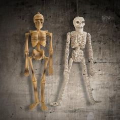 For hanging decorations, this mummy / skeleton decoration will have your party guests feeling like they're in a scary tomb…