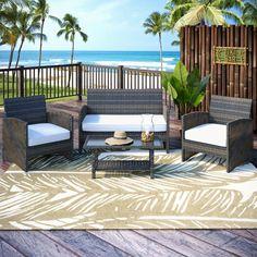 Cerys 4 Piece Sofa Set with Cushions