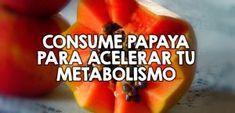 Consume papaya para acelerar tu metabolismo Cantaloupe, Mango, Health Fitness, Fruit, Bella, Food, Medicine, Recipes For Weight Loss, Loosing Weight