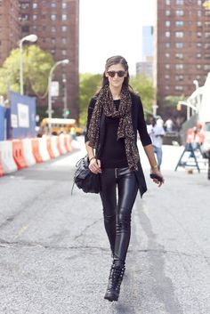 Not that I could rock leather pants in my daily teaching/mommy life, but if I could, it would look something like this...