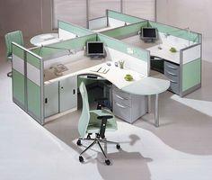 Modernos Muebles De Escritorio Oficina Particion La Estacion Trabajo