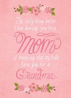 Mom to Grandma Mother's Day Card idea