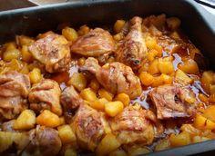 Tepsis csirke burgonyával, csodás szósszal - fejedelmi főétel gyorsan a sütőből! - Egy az Egyben
