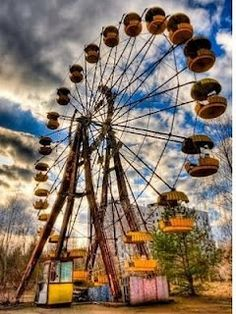 Prypiat Amusement Park (Prypiat, Ukraine) - Chernobyl - Closed the day after it opened