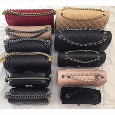 Assortment of Chanel bags