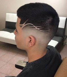 New haircut fade designs barbers ideas Medium Hair Cuts, Short Hair Cuts, Short Hair Styles, Pixie Cuts, Hairstyles Haircuts, Trendy Hairstyles, Fashion Hairstyles, Guy Haircuts, 2018 Haircuts
