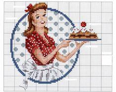 Quirky Artist Loft: Retro Housewife Cross Stitch