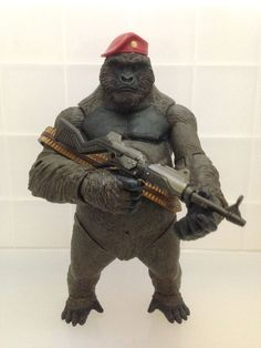 Monsieur Mallah is a superintelligent anthropomorphic gorilla supervillain in the DC Comics Universe. In addition to carrying firepower such as a heavy machine gun, he also has enhanced physical abilities such as strength and agility.