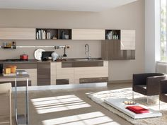 Cucine #LUBE presents mobile geometric forms that make your #kitchen unique. Creativa is a furnishing programme for people who desire a unique, exclusive living space. The interplay of #colours, materials and forms reflects a boundless creativity.