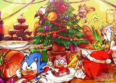 Happy Christmas sonic!! by Onieon ✔ Authorized Reproduction.