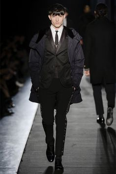 Diesel Black Gold Fall/Winter 2013 | Milan Fashion Week - K, I'm with ya until you get to the flood tux pants...