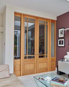 New Internal Glass Door Ideas Ideas Wooden Window Design, Wooden Glass Door, Wooden Double Doors, Internal Double Doors, Wooden Sliding Doors, Double Glass Doors, Sliding Door Design, Room Door Design, Door Design Interior