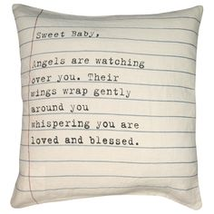 Sugarboo Designs Pillow Sweet Baby Letter @Layla Grayce