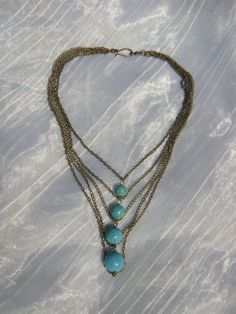 French Runway Inspired 5 Strands Vintage Brass Chain by kikaystore, $27.20