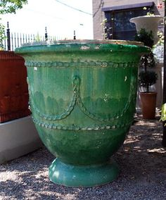 French Saint Jean de Fos Glazed Terracotta Pot | Online Garden Store