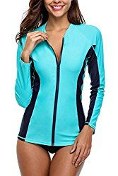Looking for ATTRACO Women's Rashguard Swimsuit Zip Front Sun Protection Swim Shirt UPF ? Check out our picks for the ATTRACO Women's Rashguard Swimsuit Zip Front Sun Protection Swim Shirt UPF from the popular stores - all in one. Swimsuit Cover Ups, Swimsuit Tops, Rashguard Swimsuit Women, Uv Shirt, Rash Guard Swimwear, Rash Guard Women, Women Swimsuits, Fashion Swimsuits, Sun Protection