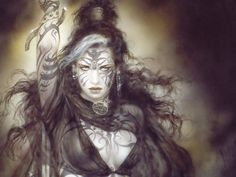 Luis Royo Wallpaper on WallpaperSafari Heavy Metal, Fantasy Art Warrior, Halloween Poems, Warrior Paint, Wolf, Fantasy Tattoos, Fantasy Kunst, Luis Royo, Warrior Girl