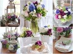 紫,白,ラナンキュラス,ヒヤシンス,チューリップ,春,装花