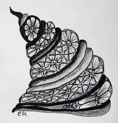 Escara's Zentangle: Muster-Mixer # 12