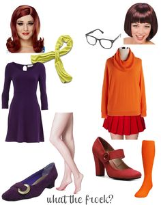 What the Frock? - Affordable Fashion Tips, Celebrity Looks for Less: Daphne and Velma from Scooby Doo Halloween Costume
