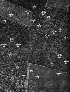 Lockheed P-38J formation in ETO, World War Two