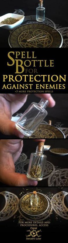 Spell for protection against enemies - Spell Bottle tutorial DIY