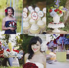 Patriotic Wedding Inspiration -- The more I think about it, the more I like this laid-back idea.
