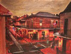 Red Night Night, Red, Painting, Painting Art, Paintings