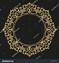 Decorative line art frame for design template. Elegant vector element for design in Eastern style, place for text. Lace illustration for invitations and greeting cards Stencil Patterns, Print Patterns, Decorative Lines, Turkish Art, Arabic Art, Floral Border, Dragon Art, Border Design, Pattern Illustration