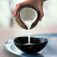 Leite de coco e farinha de coco