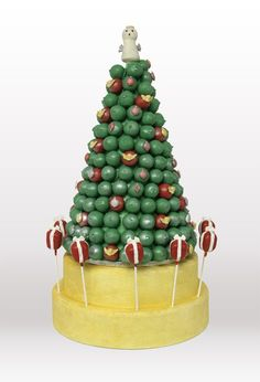 Cake pops Christmas tree.