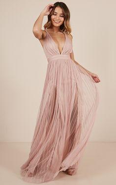 fea4282120b Teen Hearts Maxi Dress In Blush Produced