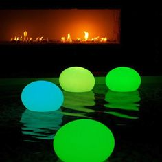 If you like the glow stick balloon idea, you might want to try letting them float in the pool for an outdoor party.