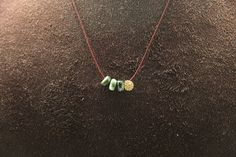 1pcsjkn004co  cotton necklace with seraphinitebrass and cz by 3yes