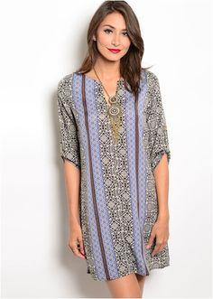OOTD LOTD FASHION STYLE FALL BOHO CUTE DRESS DRESSY OUTFIT IDEA INSPIRATION STYLING TUNIC BLACK PRINTED PRINT Magnolia Mill Hazel Dress
