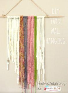 DIY Yarn Wall Hanging   TodaysCreativeBlog.net