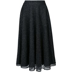 Patbo lurex mesh A-line midi skirt ($450) ❤ liked on Polyvore featuring skirts, black, knee length flared skirts, midi flare skirt, high-waisted flared skirts, high-waisted skirt and a line flared skirt