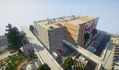 Here is a realistic parking garage for an airport but it could integrate perfectly for traditional USA city. The car park contains 650 places 7 floors, 2 underground, 5 raised. We have 3 elevators,… Minecraft Mods, Minecraft Amazing Builds, Minecraft Modern City, Minecraft City Buildings, Minecraft Creations, Minecraft Designs, Minecraft Houses, Minecraft Ideas, Minecraft Welten