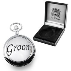 Our Groom Pocket Watch comes fully inscribed with your own individual message on the back of the Watch Case. All you need to do is offer us your individual message of up to around 50 Characters long using the Gift Message Facility at the Checkout as well as we will do the rest! The front of the Watch Case has a solid Pewter 'Groom' function, adding high quality and interest to just what   #The Great Gifts Company
